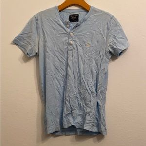Men's Abercrombie and Fitch navy blue shirt xs
